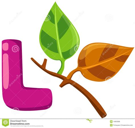 L For by Alphabet L For Leaf Royalty Free Stock Photos Image