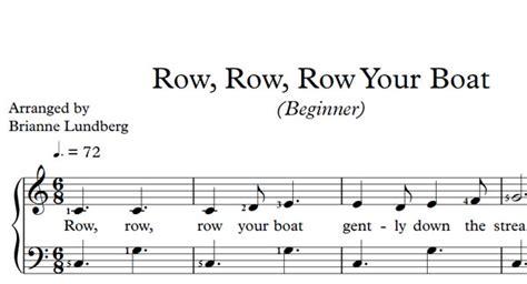 row row row your boat song row row row your boat sheet music musical bri