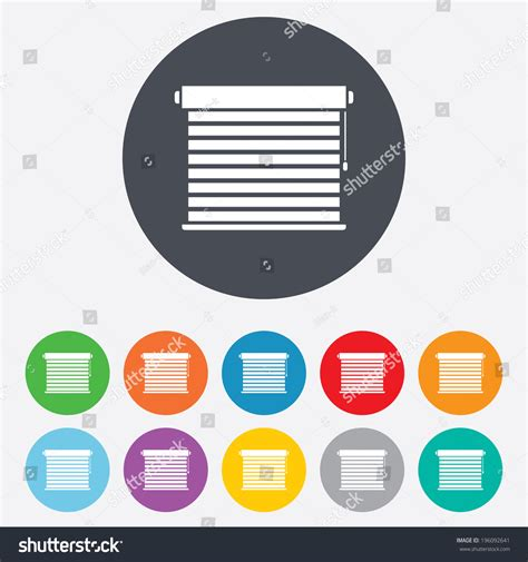 jalousie symbol louvers sign icon window blinds jalousie stock vector