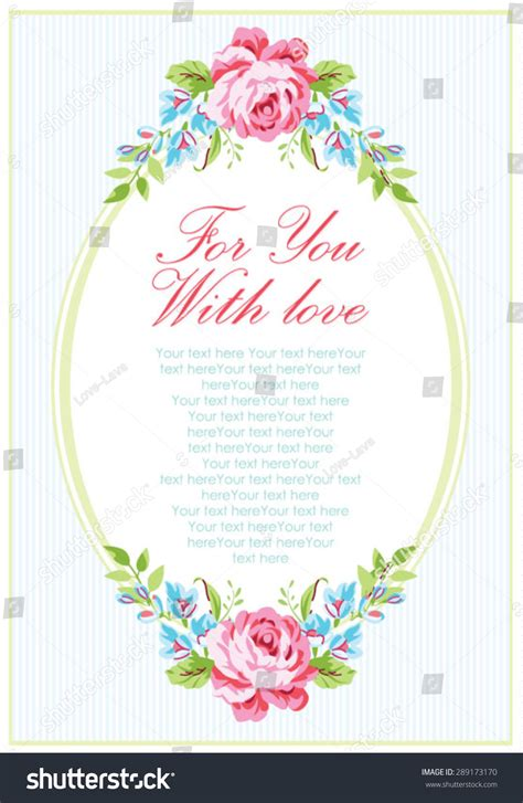 garden wedding invitation card template wedding invitation card template garden pink stock vector