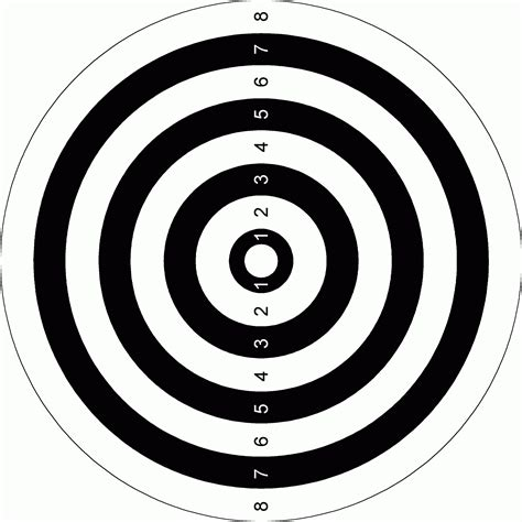 printable black and white targets best shooting target templates pictures inspiration