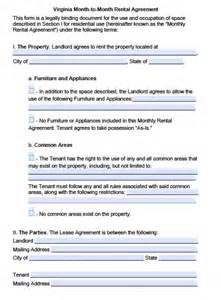 free virginia month to month lease agreement pdf word