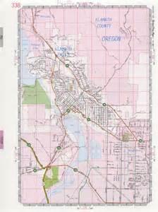 map of klamath falls oregon klamath falls road map
