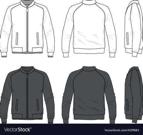 jacket design maker online free blank bomber jacket with zipper royalty free vector image