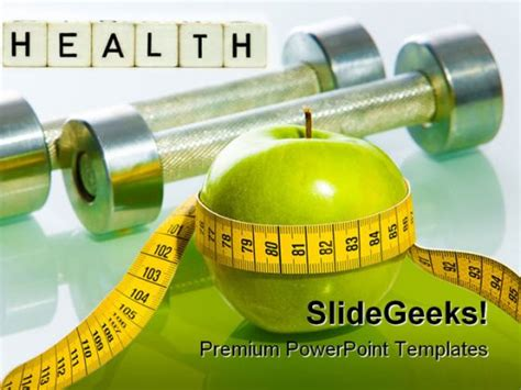 Fitness Health Powerpoint Template 0610 Free Fitness Powerpoint Templates