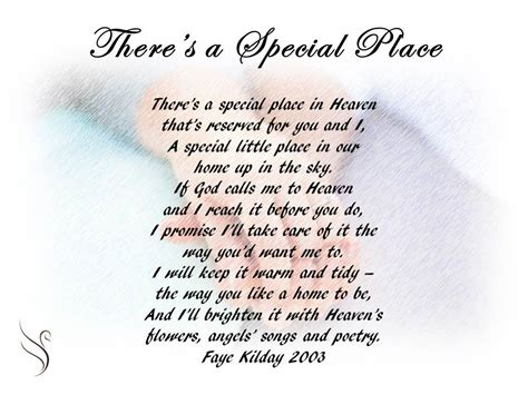 Poems About A Place Funeral Poem There S A Special Place Funeral Poems For Partner Funeral Poems