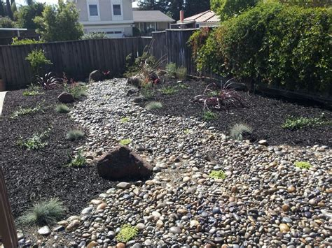rock front yard 100 california drought tolerant garden we also reused