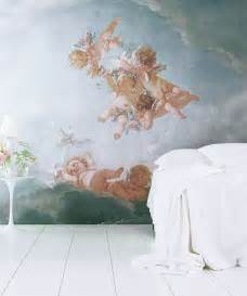 Angel Wall Murals cherub angel wallpaper related keywords amp suggestions