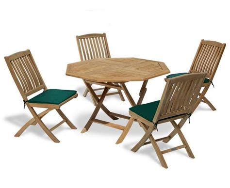 high end folding table and chairs suffolk octagonal folding garden table and 4 bali chairs set