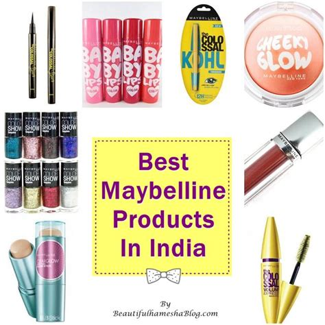 best maybelline products in india
