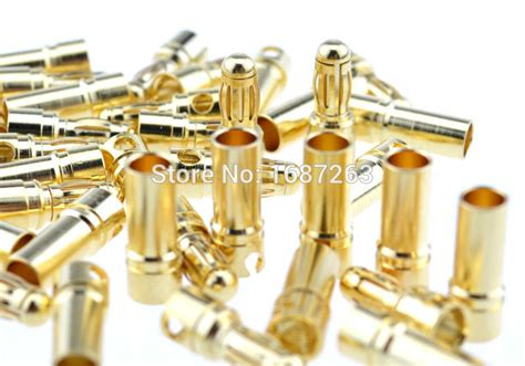 Gold Connector 35 Mm Cowok U Rc Esc Rc Brushless 20pairs 60pairs 100pairs tb35 3 5mm gold bullet banana connector 3 5 mm thick gold plated