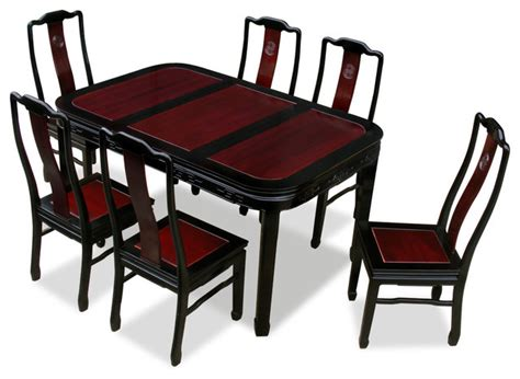asian dining table 60in rosewood longevity design dining table with 6 chairs asian dining tables by china