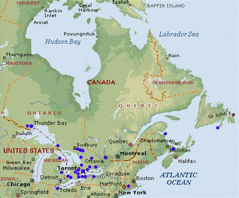 map of canada east faslink around the world
