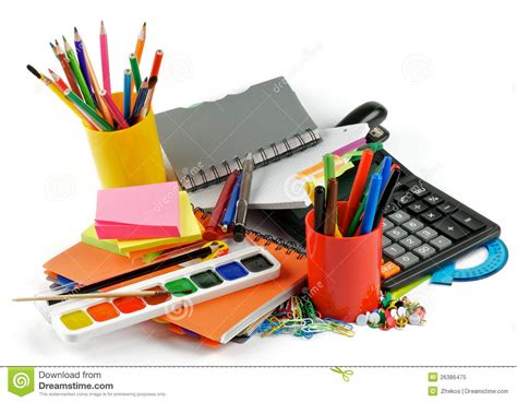 colorful office school supplies royalty free stock image color school supplies royalty free stock photo image