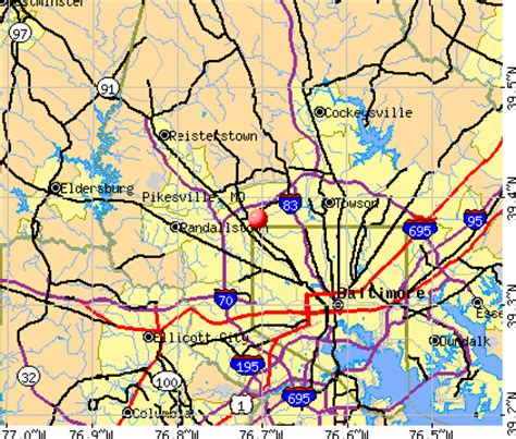 pikesville, maryland (md 21208) profile: population, maps