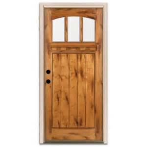 Knotty Alder Exterior Door Steves Sons Craftsman 3 Lite Arch Stained Knotty Alder Wood Prehung Front Door A4151 Aw Wj 4rh