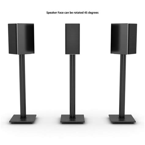 adjustable bookshelf speaker stand in black atlantic inc