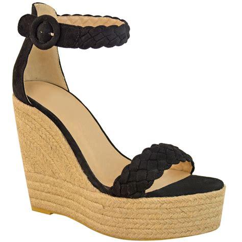 Ankle Platform Sandals womens high wedge heel platform sandals ankle