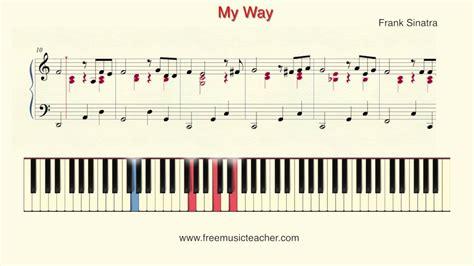 piano tutorial way way how to play piano frank sinatra quot my way quot piano tutorial