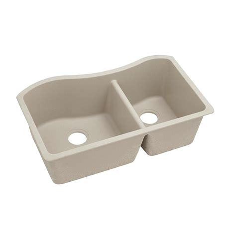 Quartz Kitchen Sinks Elkay Premium Quartz Undermount Composite 32 5 In Bowl Kitchen Sink In Parchment