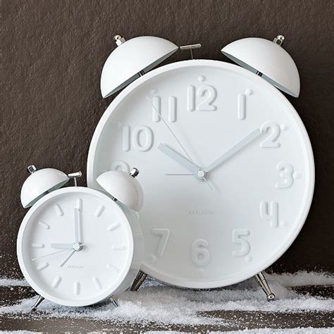 ceramic white alarm clock modern alarm clocks