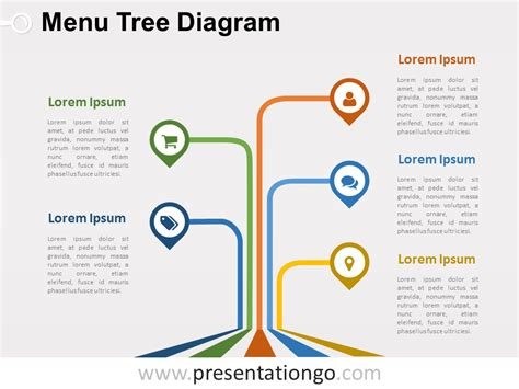 free editable menu tree powerpoint diagram powerpoint