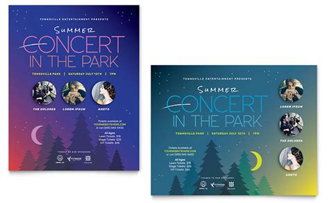 illustrator templates for posters summer concert poster template design
