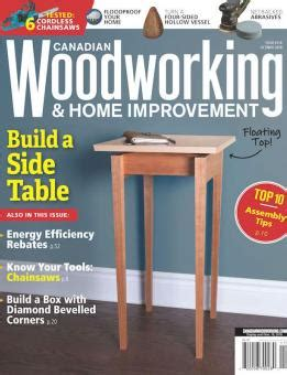 october november  canadian woodworking home