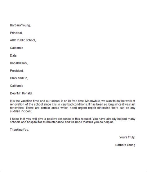charity sponsorship request letter donation request letter 8 free for word