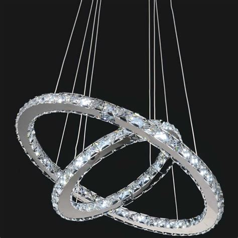 Brizzo Lighting Stores 24 Quot Anelli Modern Crystal Round Led Ring Chandelier