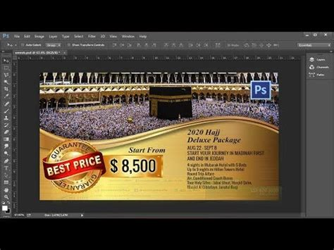 tutorial umroh tutorial how to design poster umroh with photoshop cc