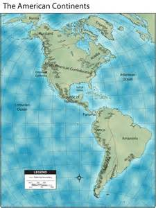 Close up map of the north american continent dominated by the north