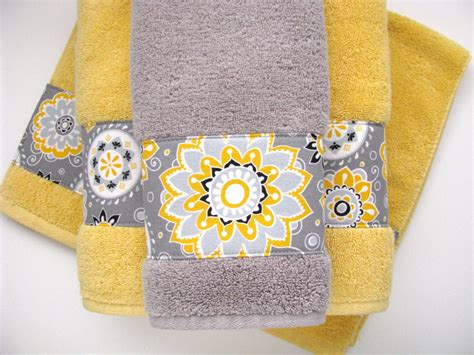 yellow gray bathroom yellow grey gray bathroom towels hand towels towel yellow