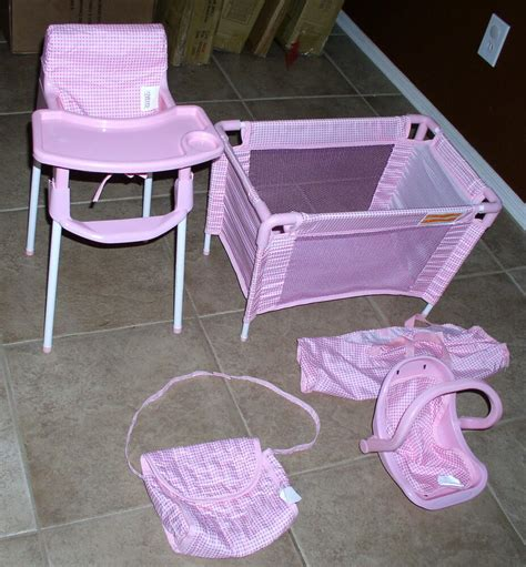 baby doll high chair set badger basket baby doll furniture set high chair