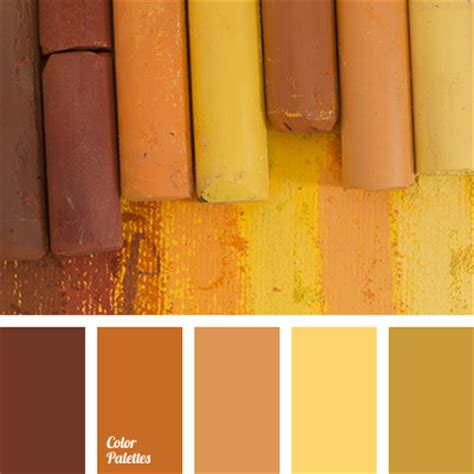 yellow brown the selection of colors for home color palette ideas