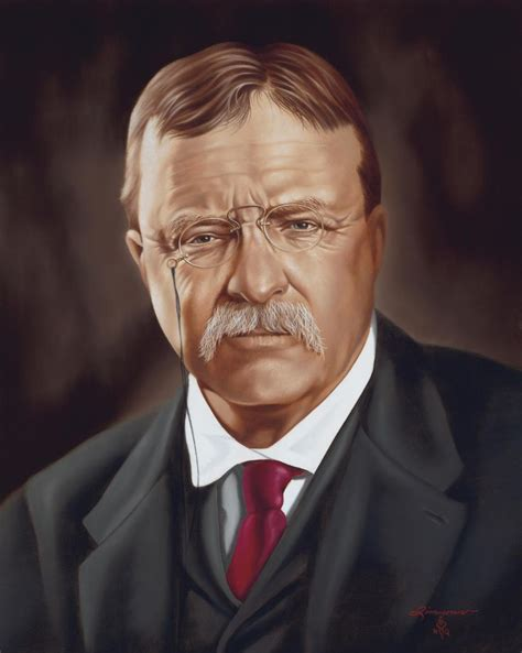 president theodore roosevelt oil portrait painting