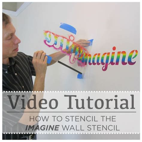 tutorial design quotes video tutorial how to stencil the imagine wall stencil