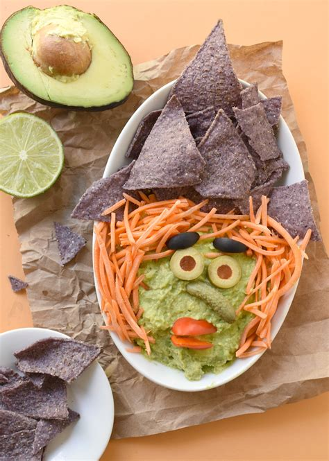 Witchy Guacamole Dip - Fork and Beans Guacamole And Tortilla Chips Healthy