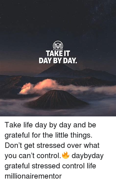 Take Life Day By Day And Be Grateful For The Little Things - 25 best memes about little things little things memes
