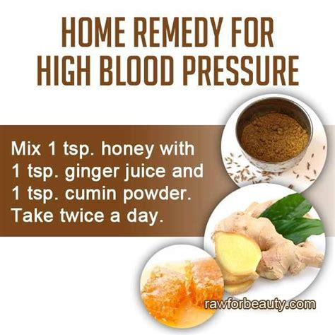 home remedy for high blood pressure health