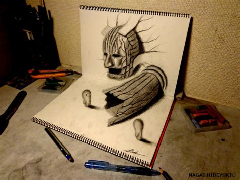 how to draw a 3d 3d drawing entrance to the dubious world by nagaihideyuki on deviantart
