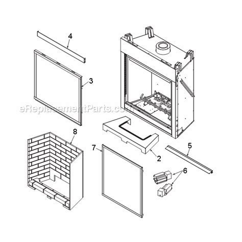 monessen gas fireplace parts monessen bldv400 parts list and diagram bldv7 series