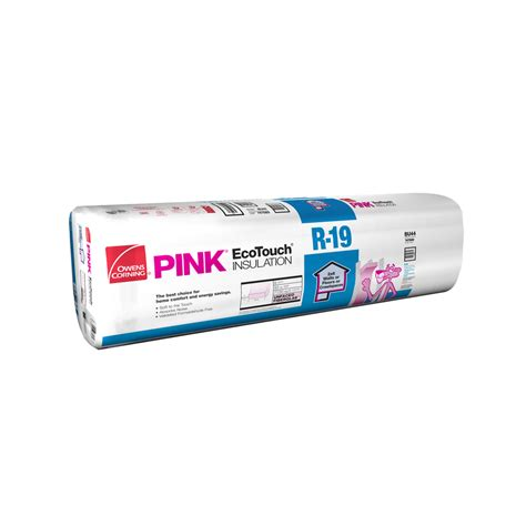 owens corning fiberglass insulation shop owens corning r19 77 5 sq ft unfaced fiberglass batt insulation with sound barrier 15 in w