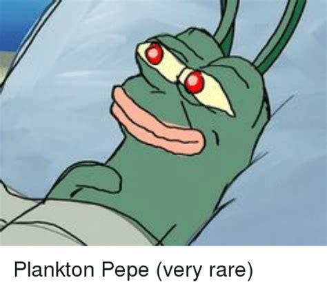 Plankton Meme - plankton pepe very rare plankton meme on sizzle
