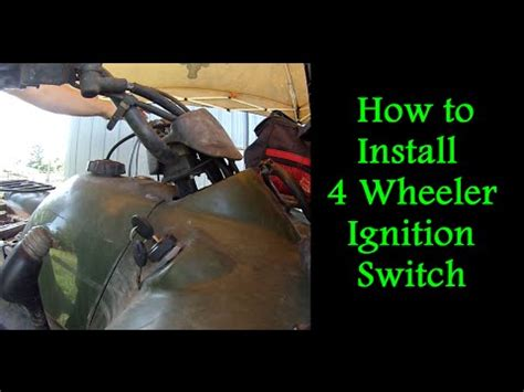 how can i replace the ignition switch in a jeep wrangler s 1993 i know is the steering column how to replace the ignition switch on a 4 wheeler youtube