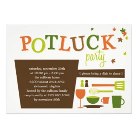holiday potluck invitations & announcements | zazzle