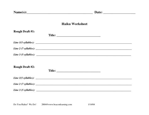 Haiku Template printables haiku worksheet followersblast thousands of printable activities