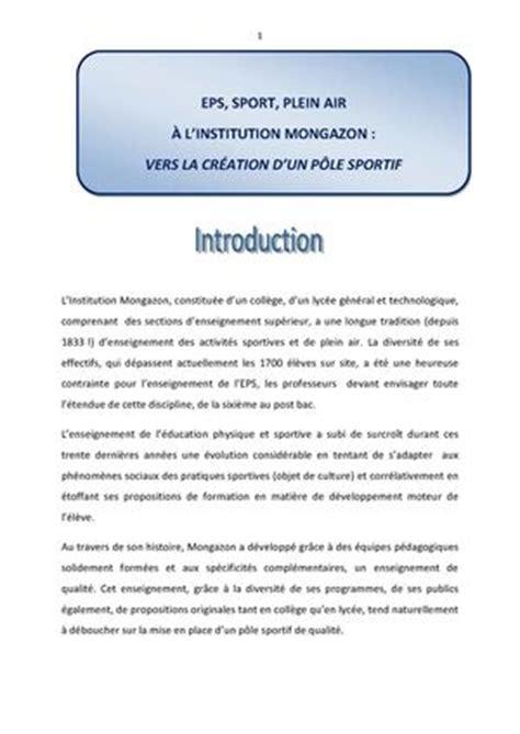 Lettre De Motivation Lycée Option Eps Calam 233 O Livret Projet Pole Sport