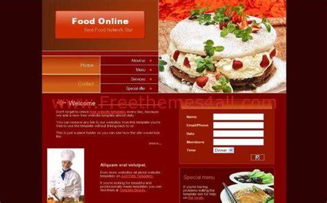 css layout restaurant free dark red restaurants psd template download