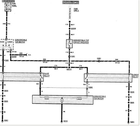 wiring diagram for 1989 ford mustang convertible rear